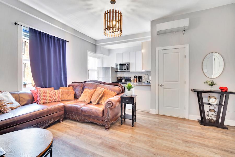 unit 4 living room/kitchen