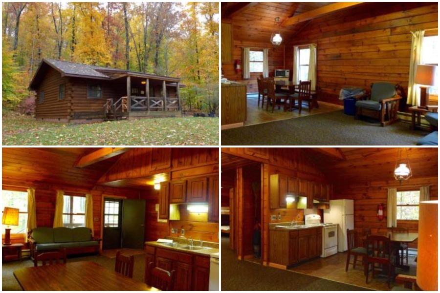 a modern cabin in a Pennsylvania state park