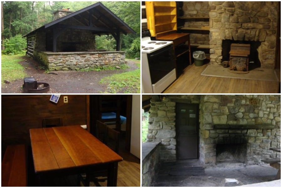 an example of a rustic cabin at a pennsylvania state park