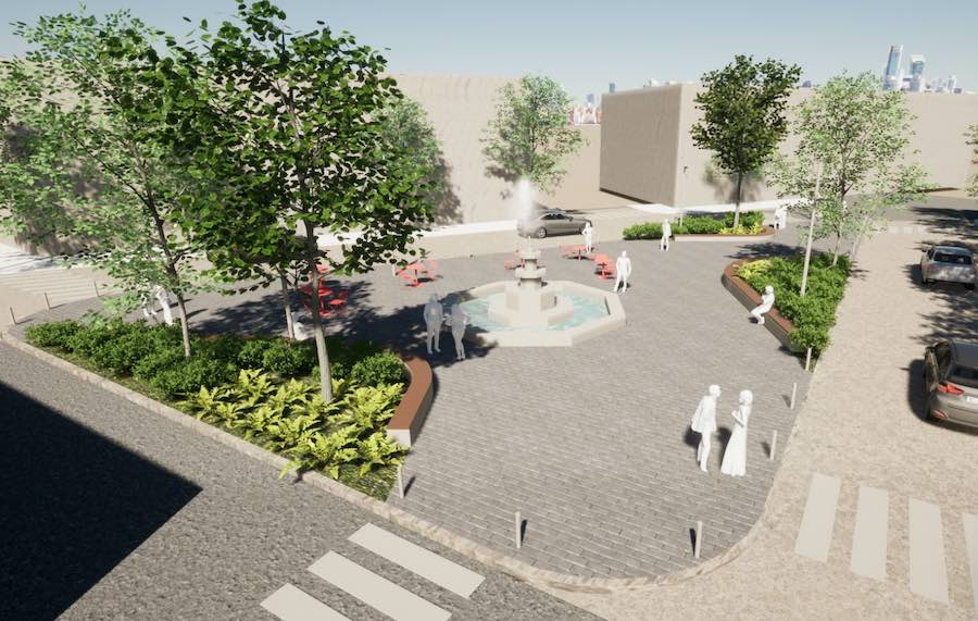a rendering of the proposed south philly singing fountain redesign