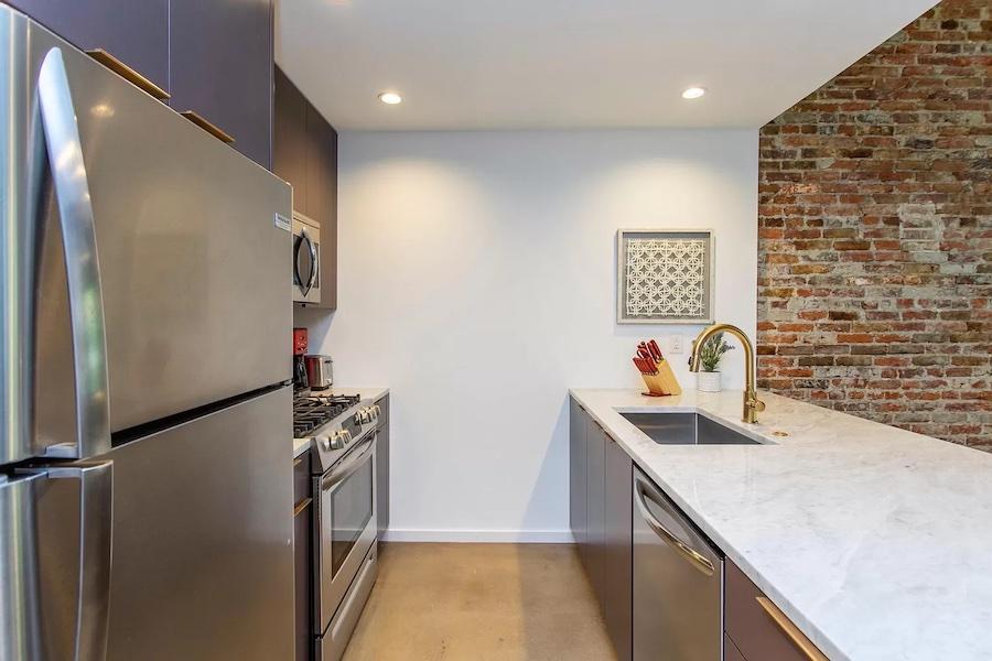 apartment for rent Washington Square West loft kitchen