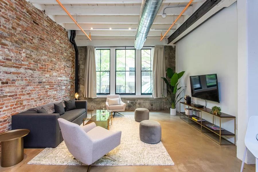 apartment for rent Washington Square West loft living room