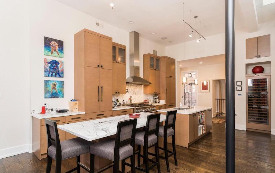 house for sale Rittenhouse renovated townhouse kitchen