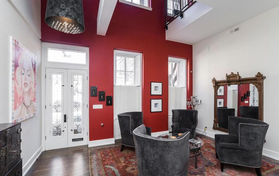 house for sale Rittenhouse renovated townhouse living room