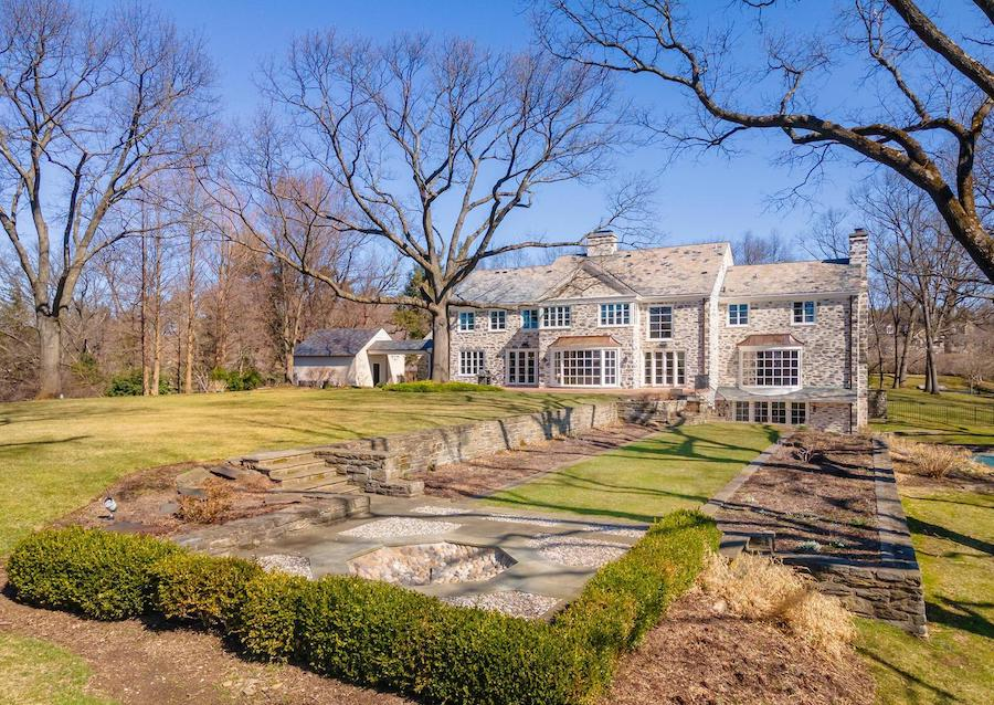 backyard and formal terrace