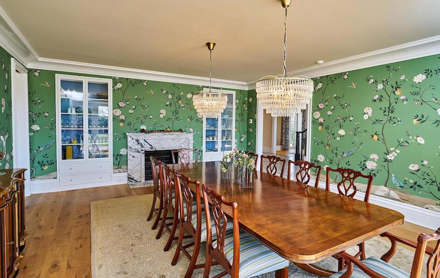 house for sale Chestnut Hill renovated colonial dining room