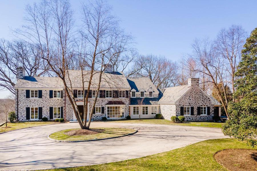 house for sale Chestnut Hill renovated colonial exterior front