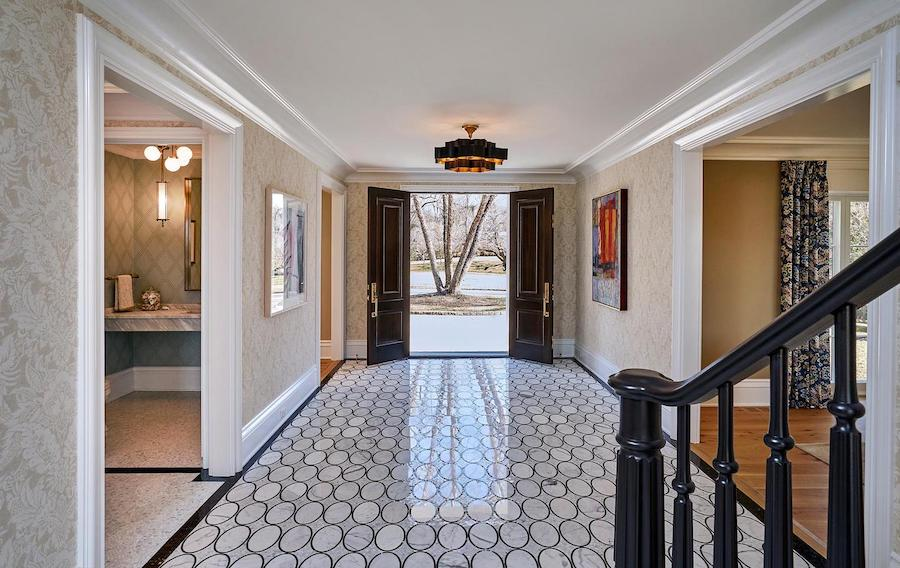 house for sale Chestnut Hill renovated colonial foyer