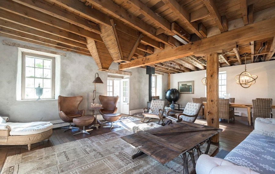 house for sale Harleysville grist mill main living area