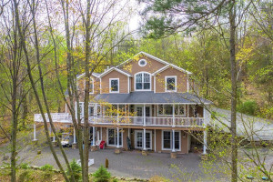 house for sale lake wallenpaupack neotraditional exterior rear