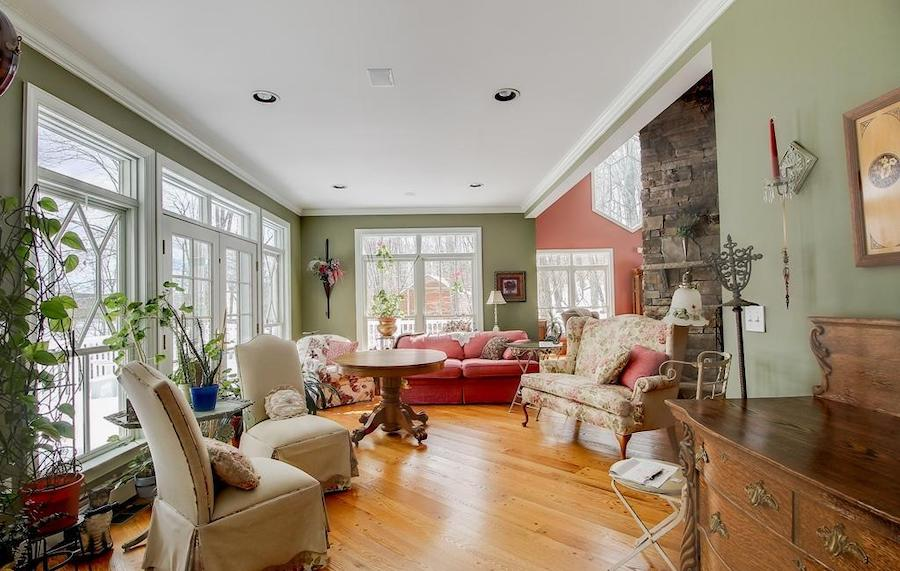 house for sale lake wallenpaupack neotraditional family room