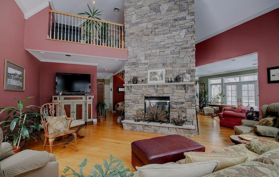 house for sale lake wallenpaupack neotraditional great room fireplace