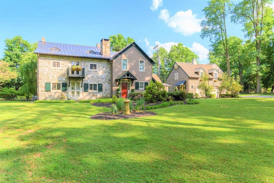 house for sale malvern expanded colonial farmhouse exterior front