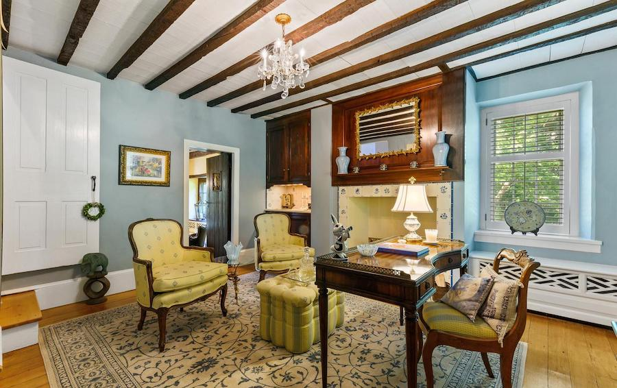 house for sale malvern expanded colonial farmhouse original living room