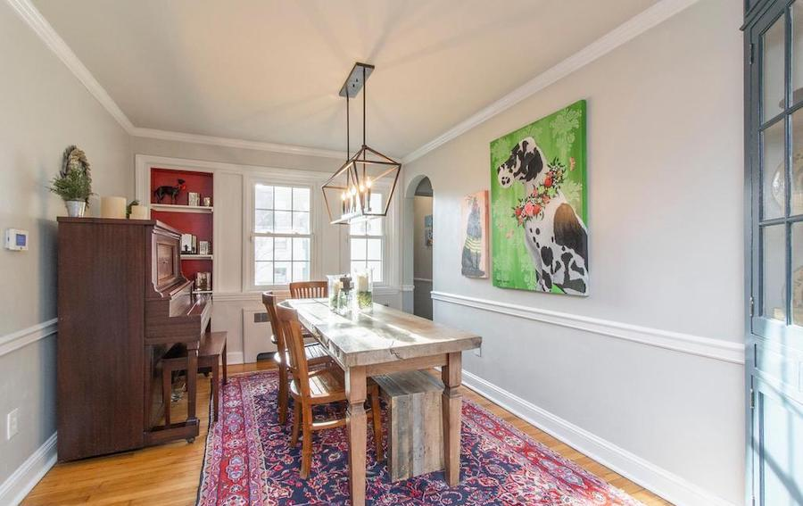 house for sale Narberth expanded cape dining room