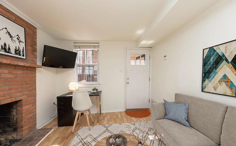 house for sale queen village extended trinity living room
