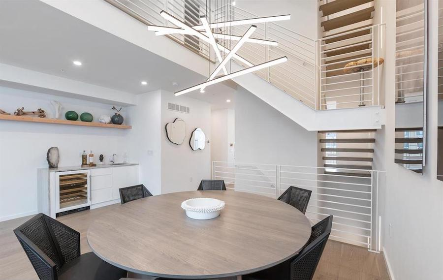 house for sale Rittenhouse Square new construction townhouse dining room