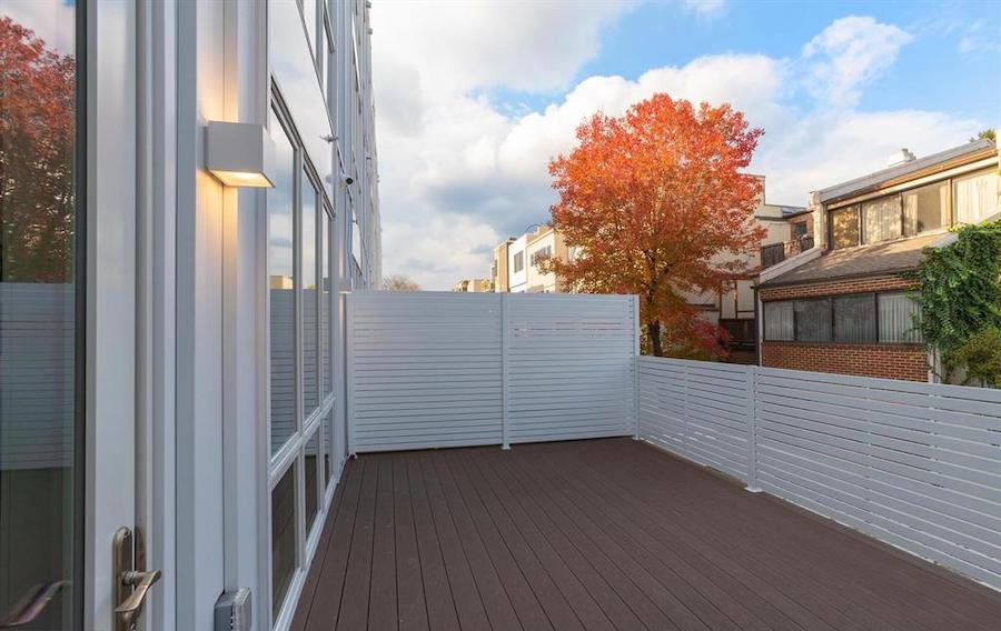 house for sale Rittenhouse Square new construction townhouse rear deck