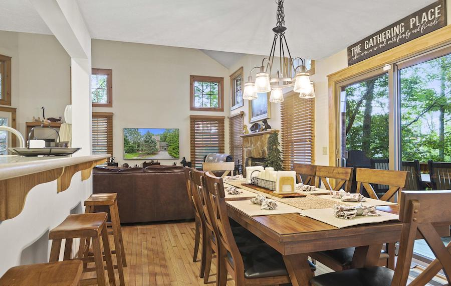 house for sale tannersville contemporary traditional house dining room