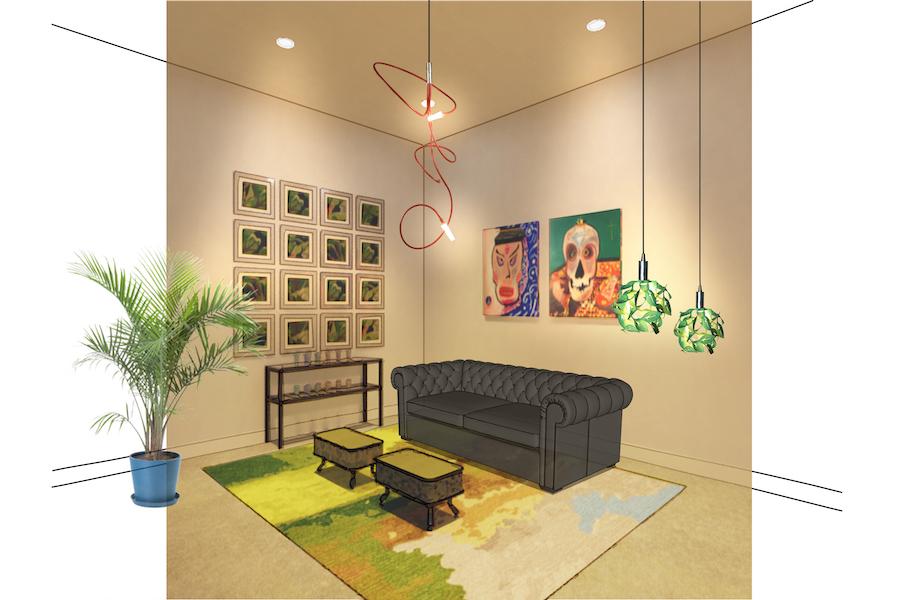 InLiquid benefit auction 2021 floss barber living room rendering
