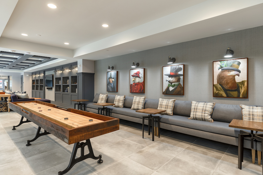 delwyn apartment profile game room and lounge