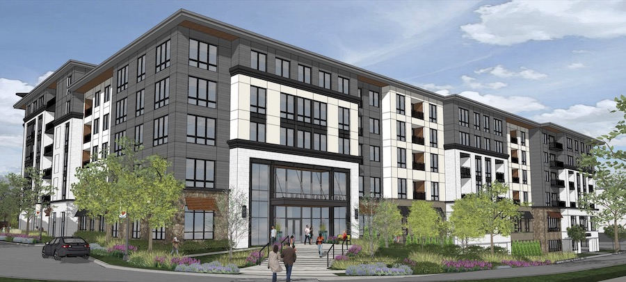 rendering of new mixed-use building