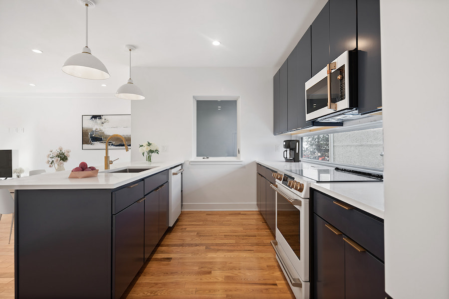 house for sale Fishtown new construction kitchen