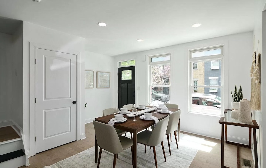 house for sale graduate hospital expanded rowhouse dining room