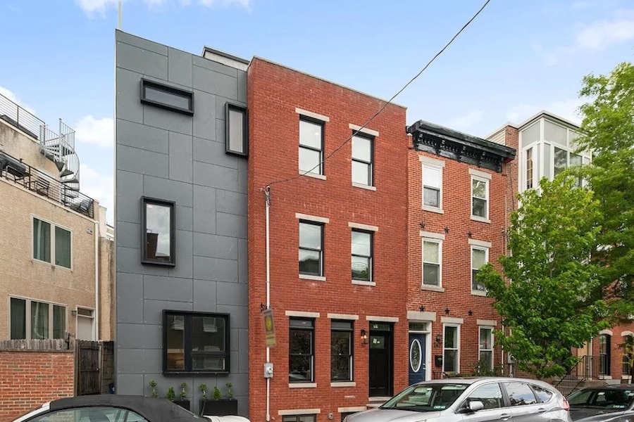 house for sale graduate hospital expanded rowhouse exterior front