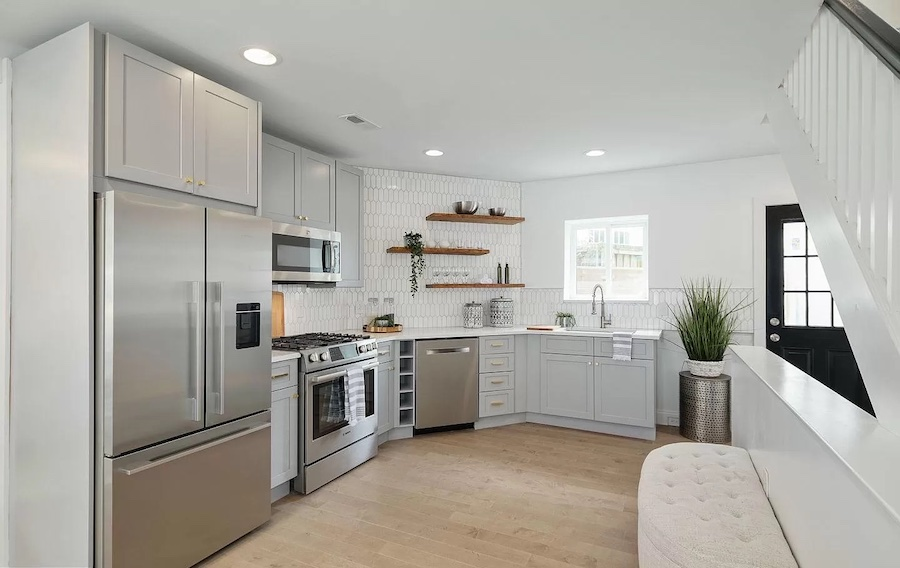house for sale graduate hospital expanded rowhouse kitchen
