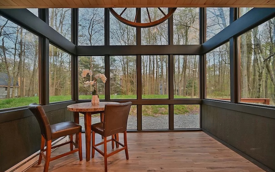 house for sale Lake Naomi rebuilt contemporary dining room