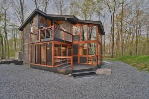 house for sale Lake Naomi rebuilt contemporary exterior front