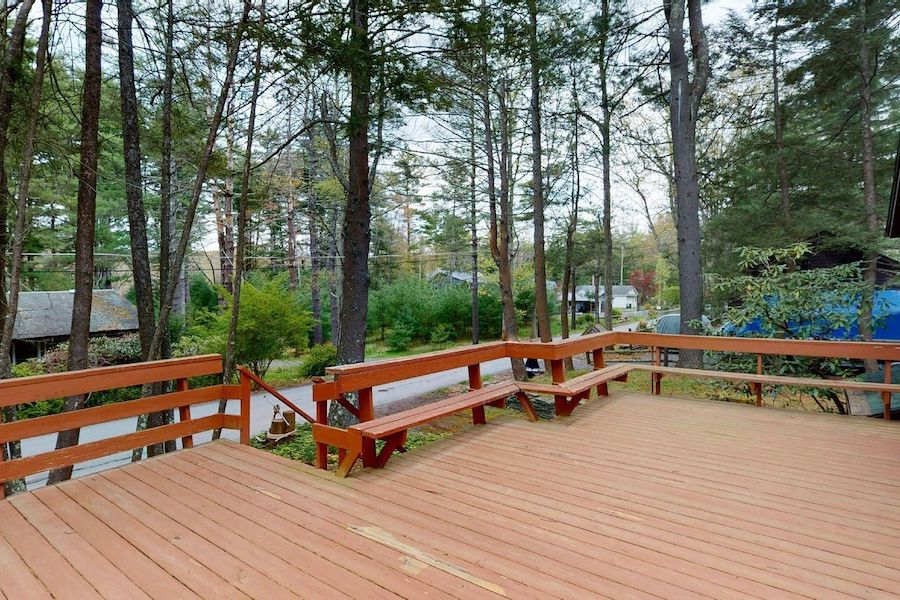 house for sale lake wallenpaupack cabin front deck