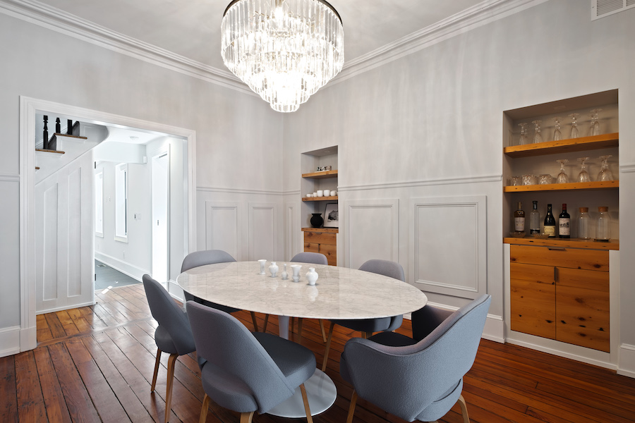 house for sale Rittenhouse Square renovated rowhouse dining room