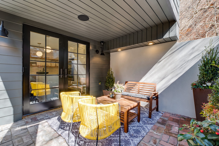 house for sale Rittenhouse Square renovated rowhouse rear patio