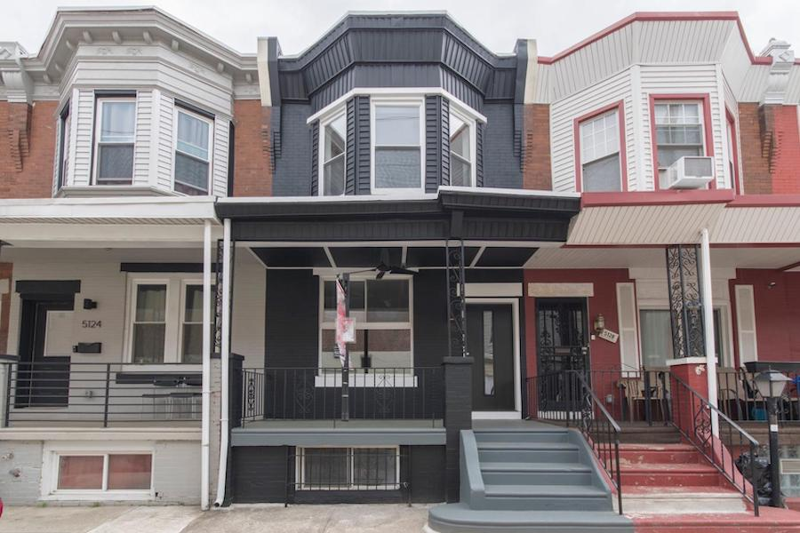 house for sale rebuilt walnut hill rowhouse exterior front