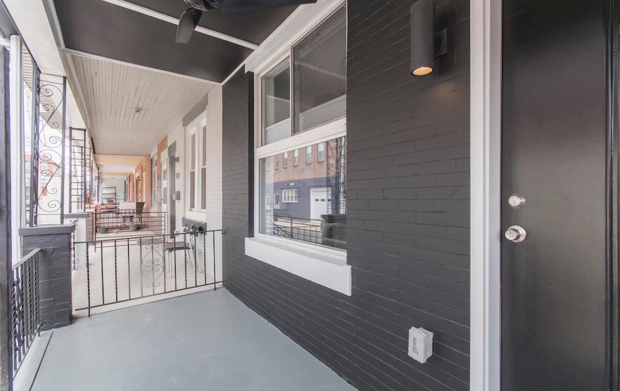 house for sale rebuilt walnut hill rowhouse front porch