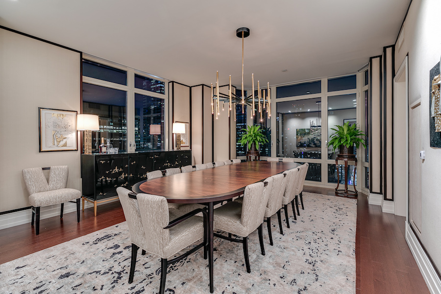 condo for sale 10 Rittenhouse high-floor unit dining room