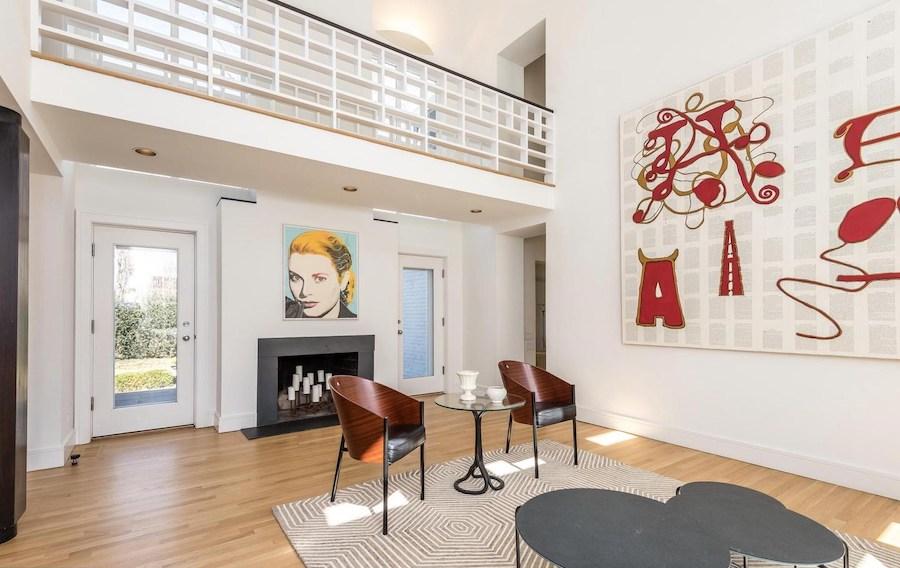 house for sale ambler postmodern farmhouse living room