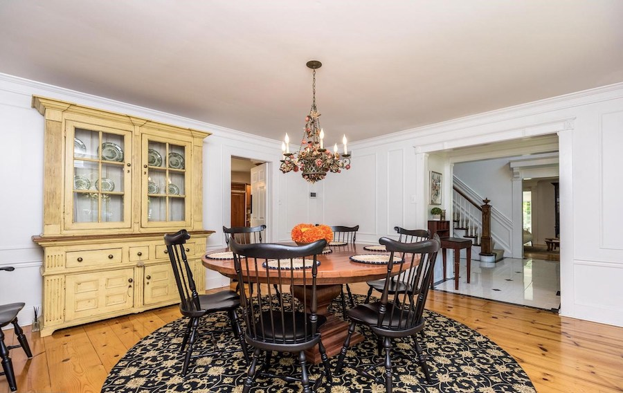 house for sale Blue Bell colonial farmhouse dining room