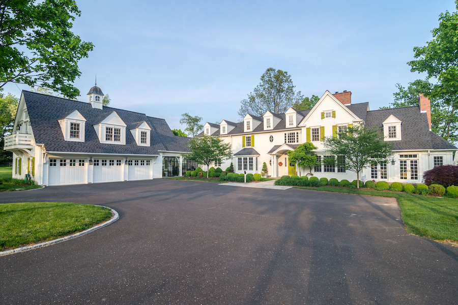 house for sale Blue Bell colonial farmhouse exterior front
