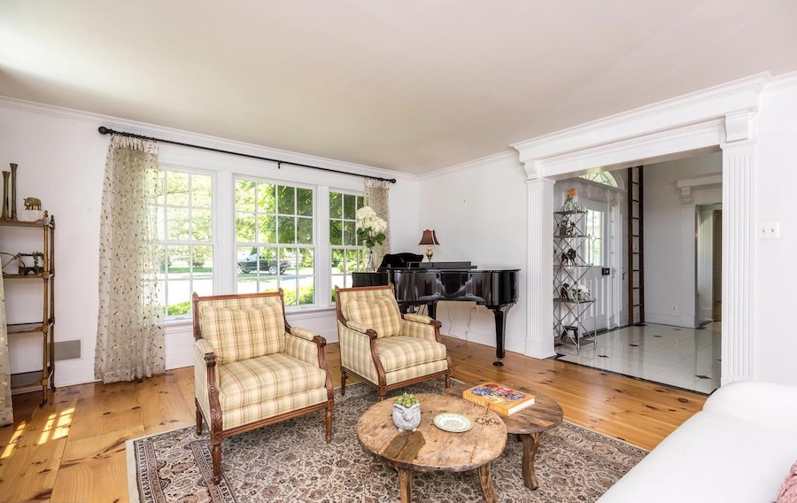 house for sale Blue Bell colonial farmhouse living room