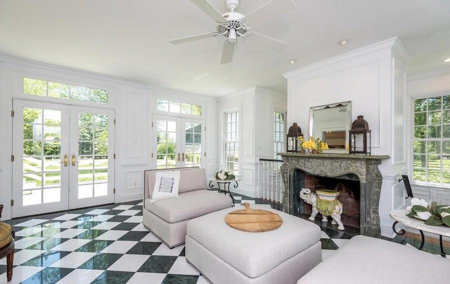 house for sale Blue Bell colonial farmhouse sunroom
