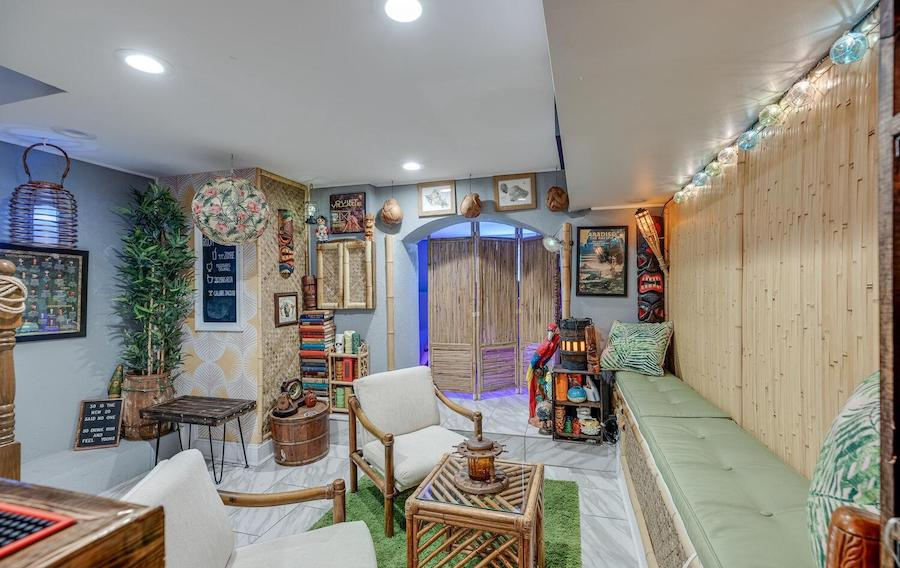 house for sale Brewerytown tiki bar basement tiki bar