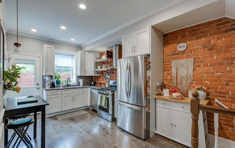 house for sale Brewerytown renovated rowhouse kitchen