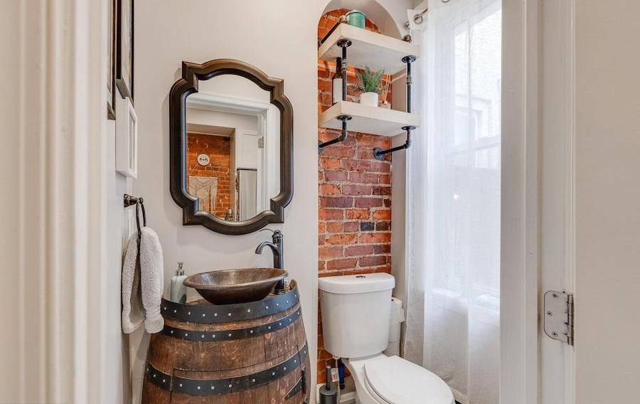 house for sale Brewerytown renovated rowhouse powder room