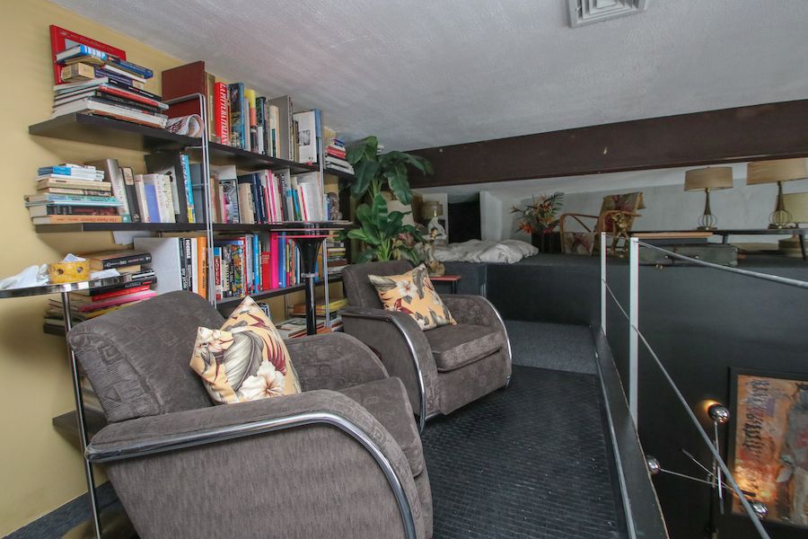 house for sale Dickinson Narrows converted warehouse library and sleeping loft
