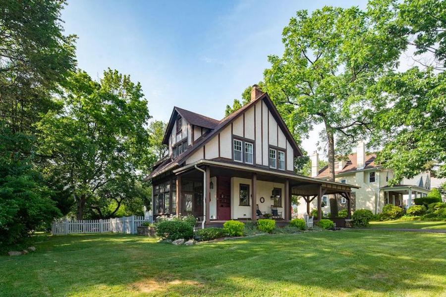 house for sale renovated Lansdowne foursquare exterior front and side