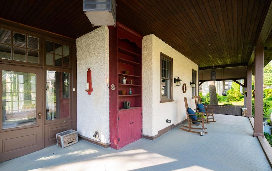 house for sale renovated Lansdowne foursquare front porch