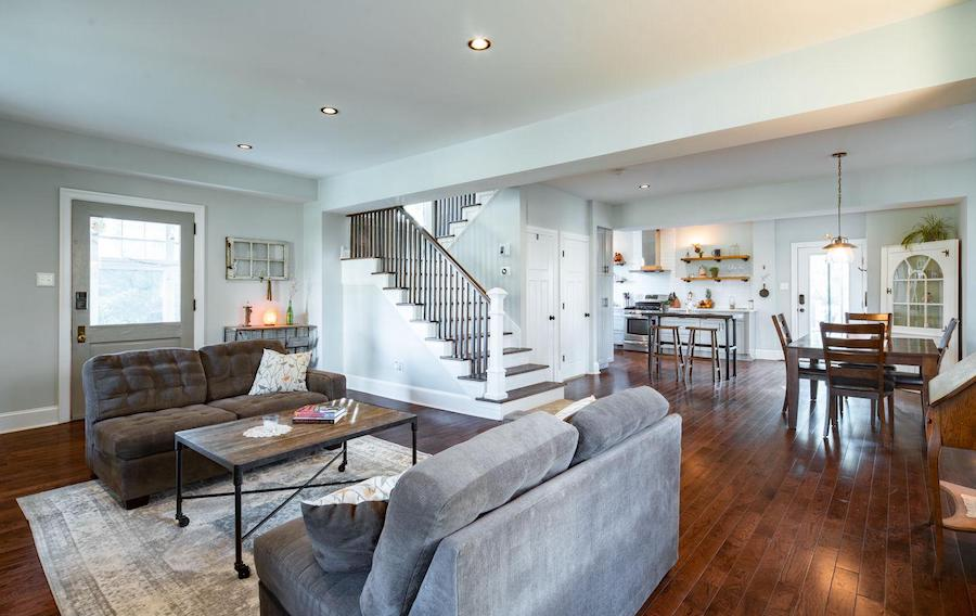 house for sale renovated Lansdowne foursquare main floor